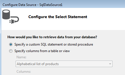 Configure the Select Statement