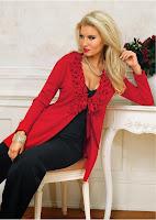 Jachetă tricotată cu aspect romantic-şic