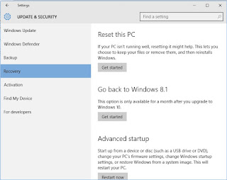Cara Mengembalikan Windows 10 ke Windows 8/7