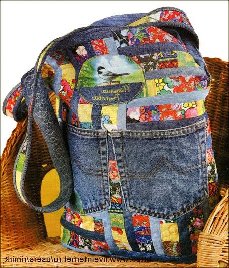 Джинсовая сумка  для лета