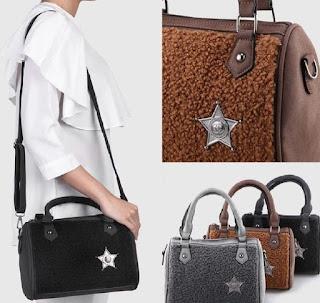 Omah Fesyen Shahlika Fleece Baguette Sling Bag