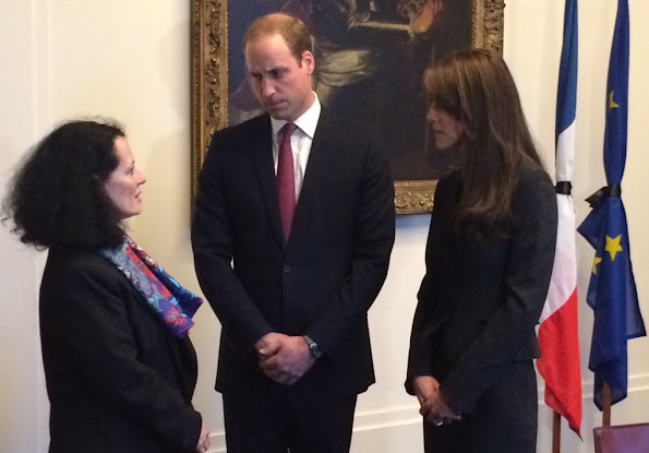 Britain's Prince William, Duke of Cambridge and Princess Catherine, Duchess of Cambridge visited the French Embassy in London