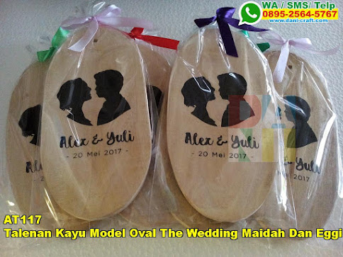 Grosir Talenan Kayu Model Oval The Wedding Maidah Dan Eggi