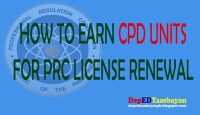 How to earn cpd units for prc id license renewal for Renew fishing license online