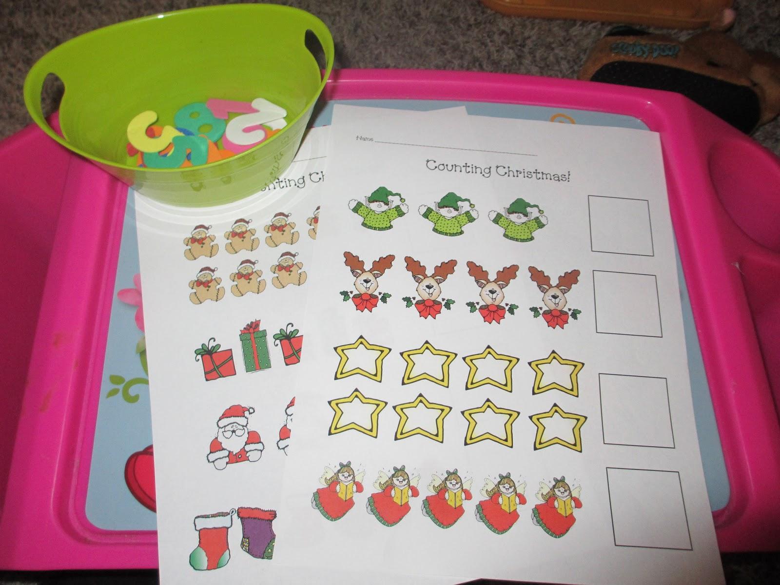 Teaching Munchkins Counting Christmas