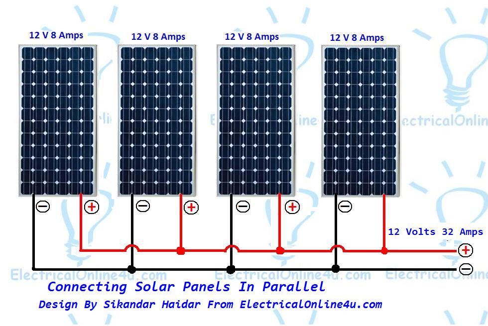 Wiring Solar Panels In Parallel & Solar Parallel