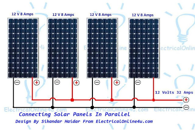 connect solar panels in parallel diagram