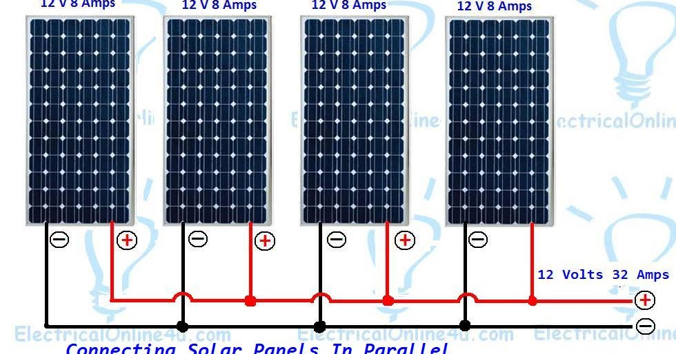 Wiring Solar Panels In Parallel & Solar Parallel Calculation | Electrical Online 4u