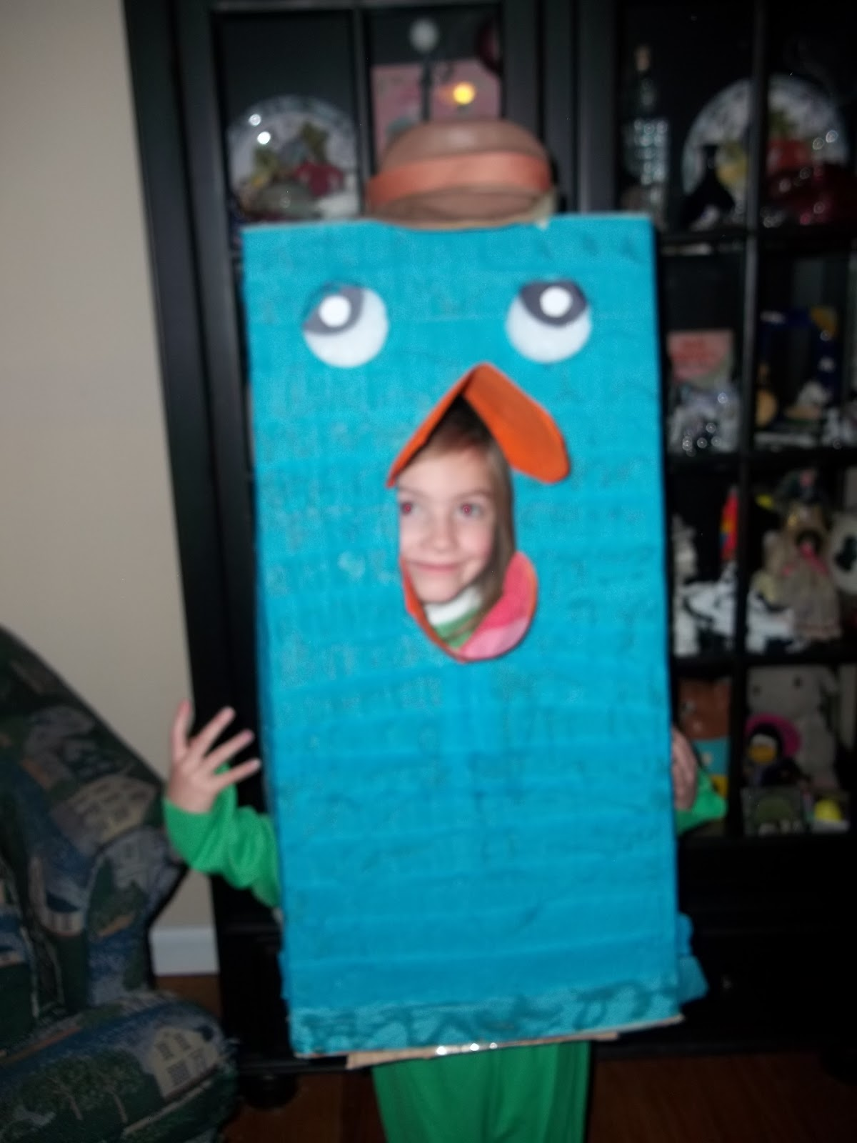 things to do with a box: homemade diy disney perry the platypus