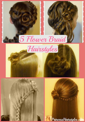 5 cute flower girl #hairstyles, rose braids #flowergirl