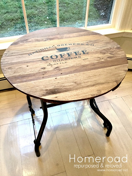 reclaimed wood tray table