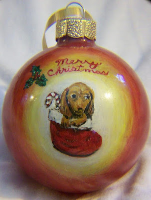 Dachshund /Candy Cane in Stocking