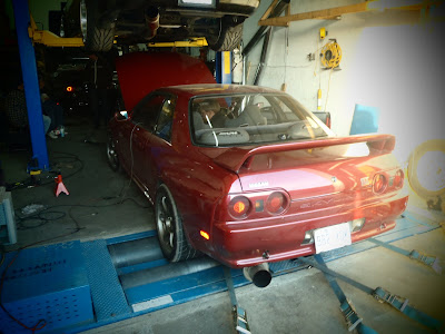Nissan Skyline GTR on Mustang Dyno 400 WHP