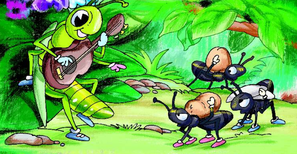 Moral story-The Grasshopper and the Ant | English Story to all