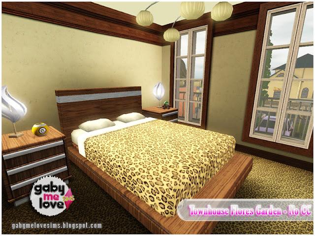 Townhouse Flores Garden |NO CC| ~ Lote Residencial, Sims 3. Habitación Principal.