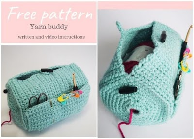 Cómo hacer un soporte cilíndrico de crochet para lanas