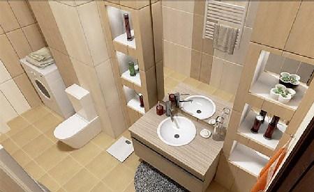 Gam màu be trong nhà tắm