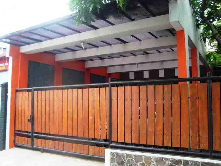 Tren Gaya 26+ Pagar Minimalis Warna Orange