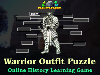 Labels of Warrior Equipments Puzzle