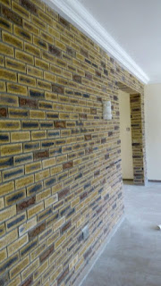 south African bricks duet done on interior wall