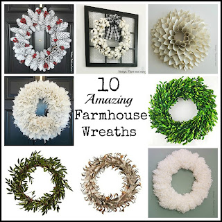 Vintage Paint and more... 10 great farmhouse wreaths - some that you can diy