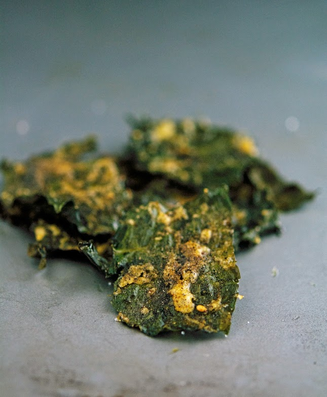 Parmesan Pepper Kale Chips