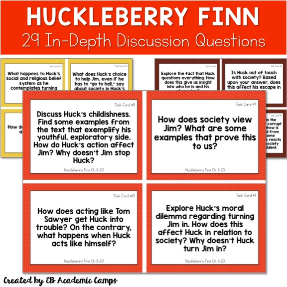 essay finn huck question In short, adventures of huckleberry finn is a deeply subversive book, not because it is peppered with the n-word or even because some see racism in what is the most anti-racist book ever written in america, but because it tells the truth—not mainly, but right down to the core.