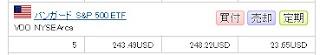 インデックス投資 VOOを購入 30代からの米国株投資