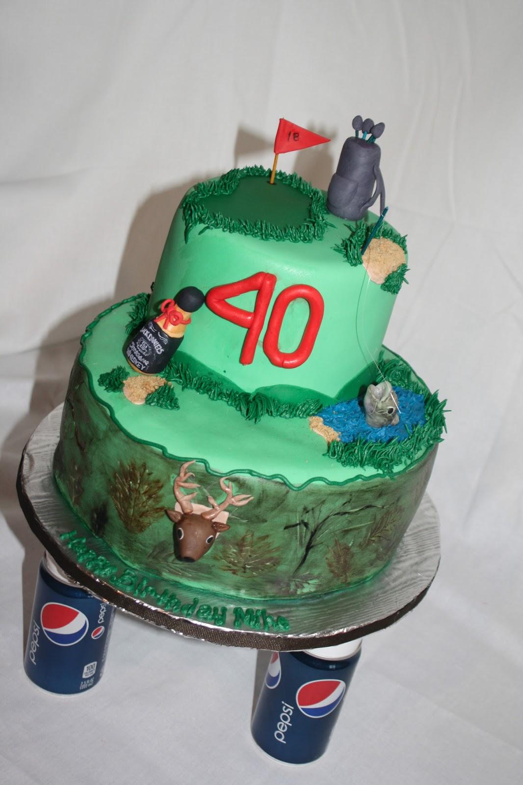 Hock Cakes LLC 40th Birthday Golfing Hunting Fishing Jack