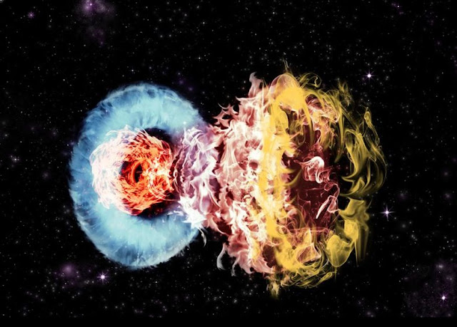 Violent collision of massive supernova with surrounding gas powers superluminous supernovae