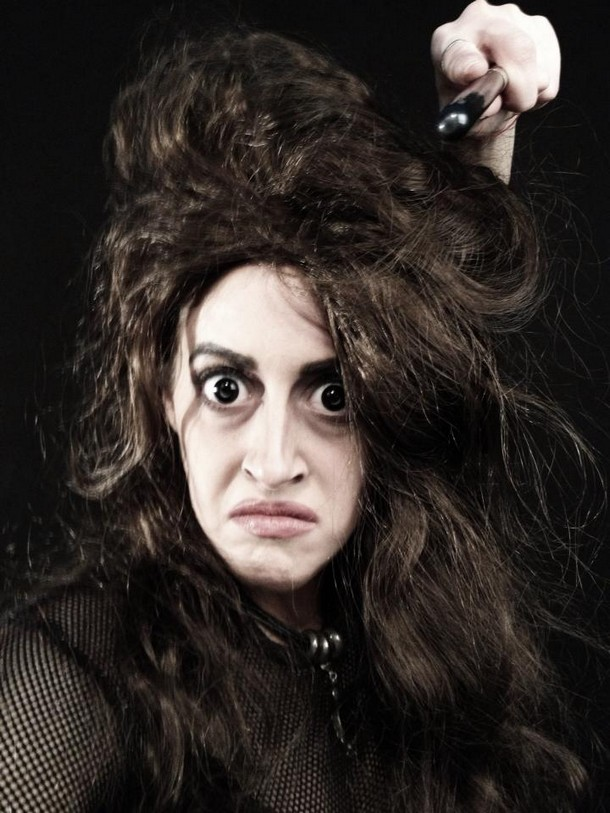Carly Paige made up as Bellatrix Lestrange - From Harry Potter