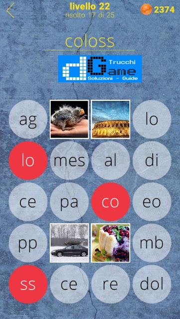 650 Parole soluzione livello 22 (1 - 25) | Parola e foto
