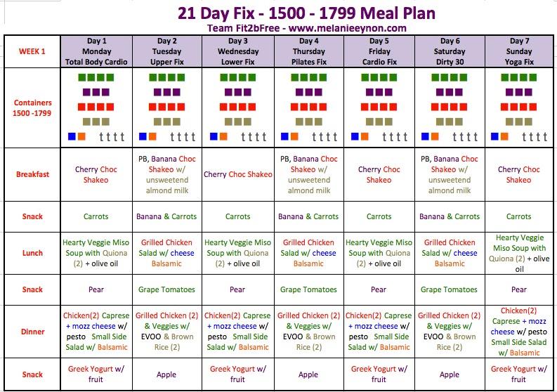 21 day fix printable meal plan 1500 calories
