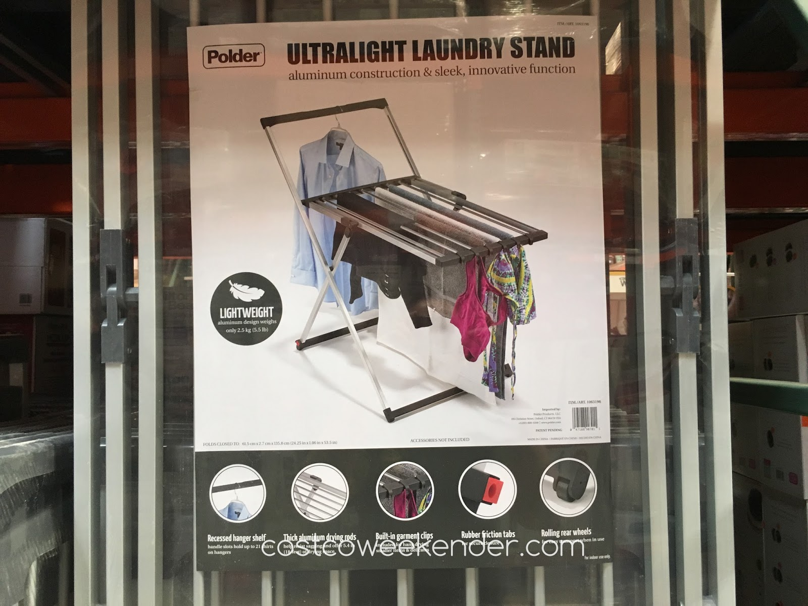 Don't ruin delicate clothing by drying them on the Polder Ultralight Laundry Stand