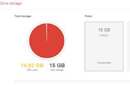 Cara menghapus data google Driver storage yang penuh