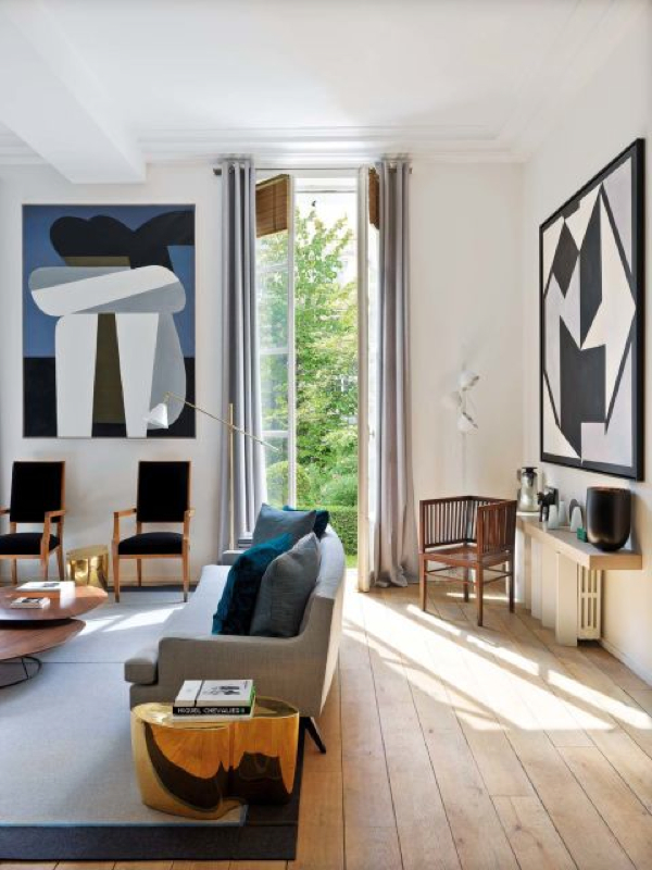 This Art Filled Parisian Apartment is Everything!- design addict mom