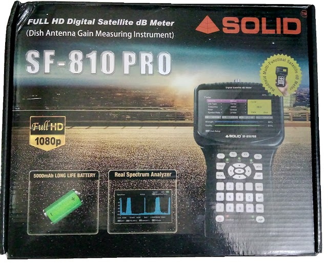 SOLID launched SF-810PRO upgraded model of SF-810 digital S2 sat finder