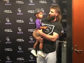 Charlie With His Year Old Superfan