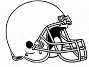 Football Helmet Outline Cake Ideas and Designs
