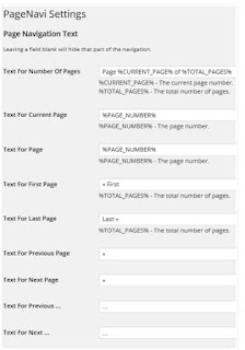setting page number