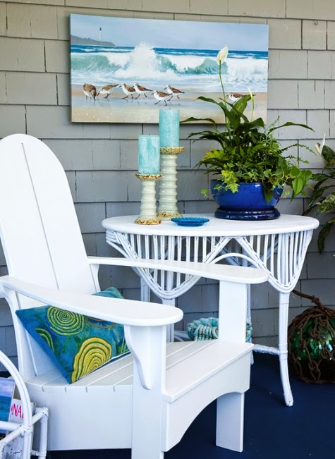 coastal outdoor living room blue