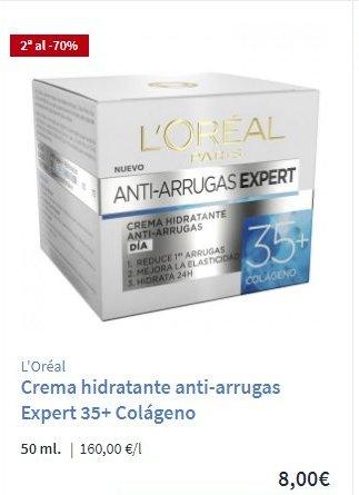 Crema antiarrugas Expert 35 Carrefour