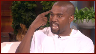 kanye west going crazy on ellen