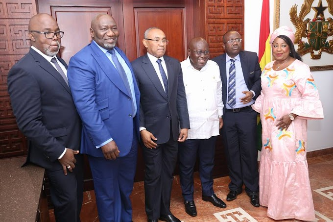 You have Ghana's Continued Support in your Quest to Develop Football - President Akufo Addo to CAF President