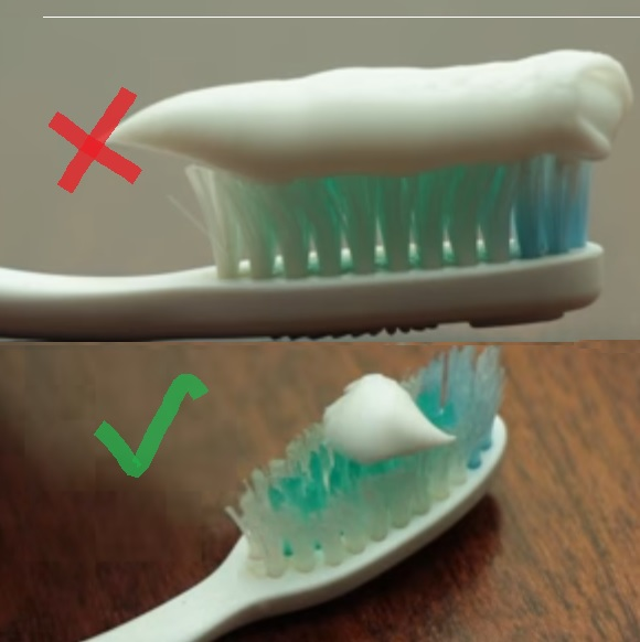 Toothbrush Paste Size, 2 things you are doing wrong while brushing your teeth