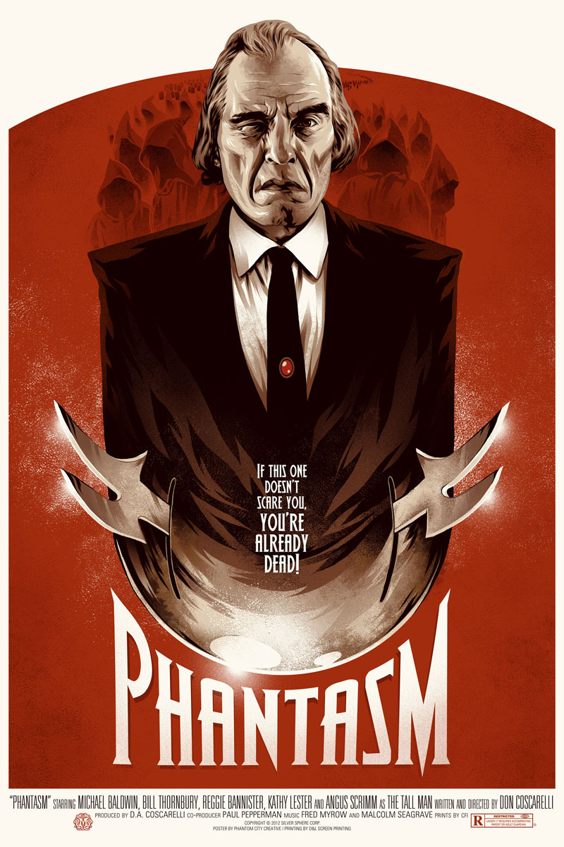Phantasm is a 1979 American horror film directed, written, photographed,  co-produced, and edited by Don Coscarelli. It introduces the Tall Man  (Angus ...