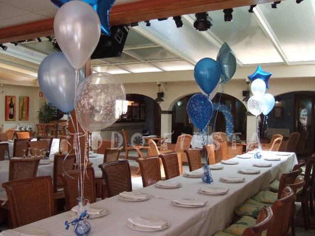 Decoraci n con globos de todo fiesta decoraciones para 1 for Decoracion con globos 50 anos