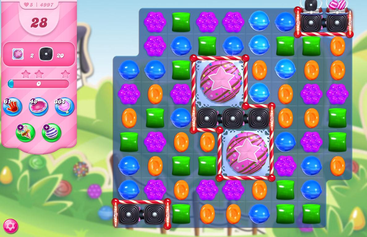 Candy Crush Saga level 4997