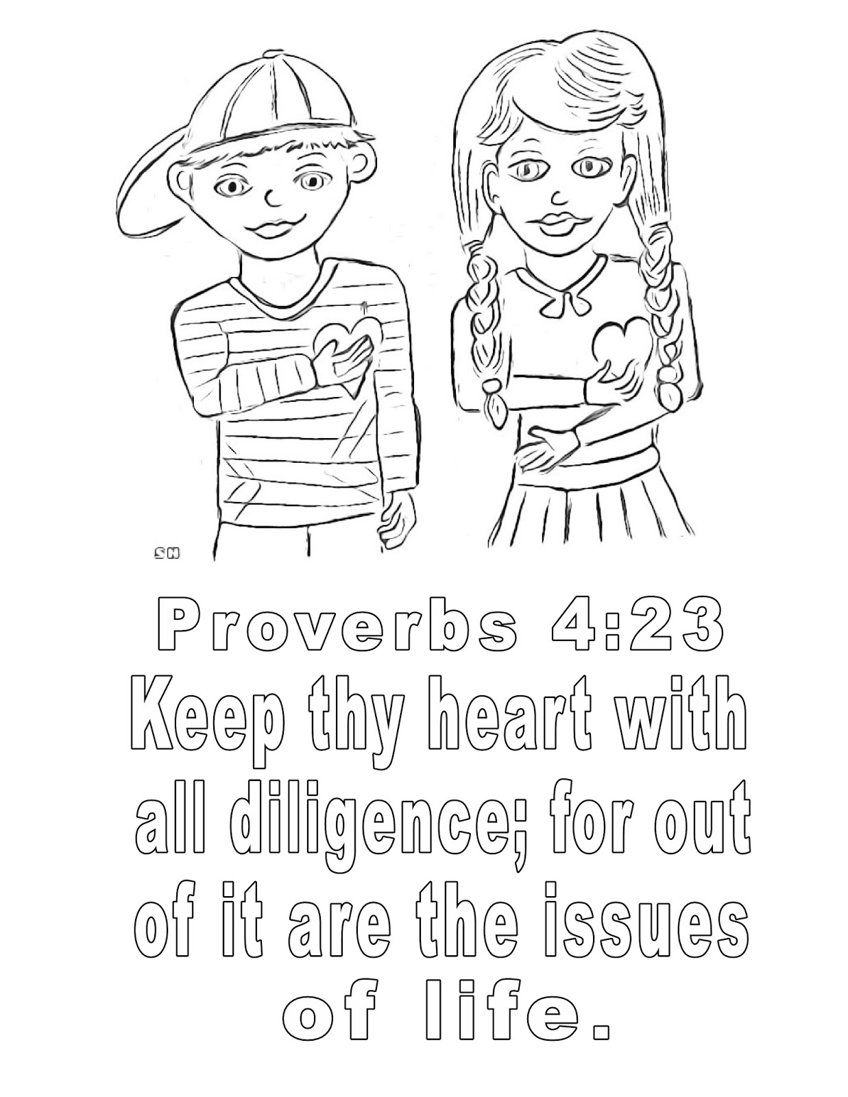 children u0027s gems in my treasure box proverbs 4 23 coloring page