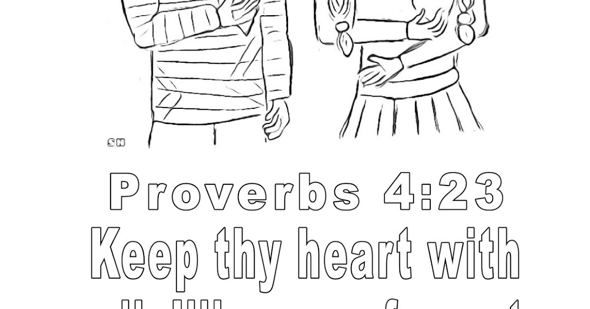 Children's Gems In My Treasure Box: Proverbs 4:23 Coloring